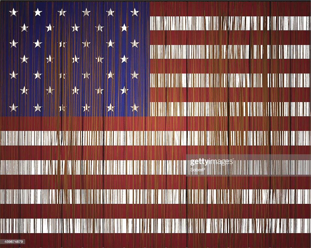 Vector grunge usa flag. Eps10