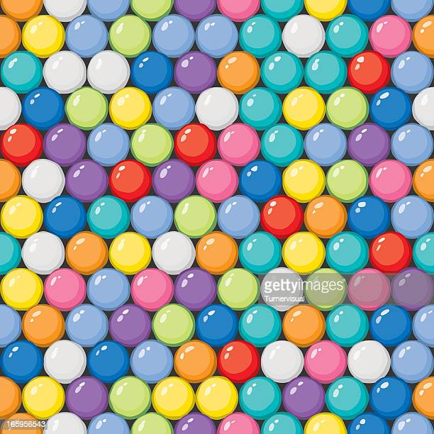 vector gumballs background - seamless tile - sweet food stock illustrations