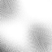 Vector halftone abstract transition dotted circular pattern