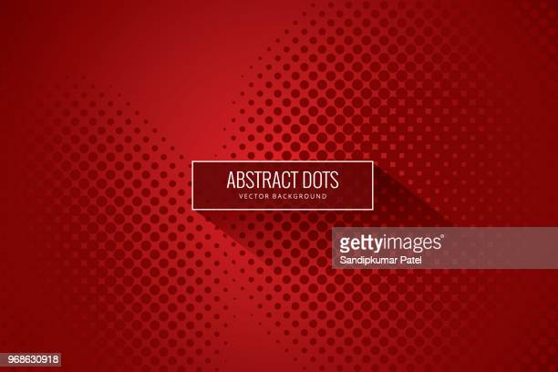 stockillustraties, clipart, cartoons en iconen met vector halftone abstract overgang gestippelde circulaire - rood