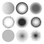 Vector halftone circle effect
