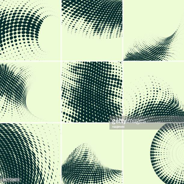 Vector Halftone Dots Pattern Backgrounds Collection