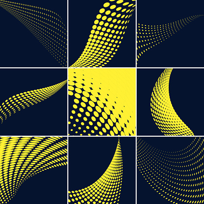 Vector Halftone Dots Pattern Collection - gettyimageskorea
