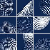 Vector Halftone Dots Pattern