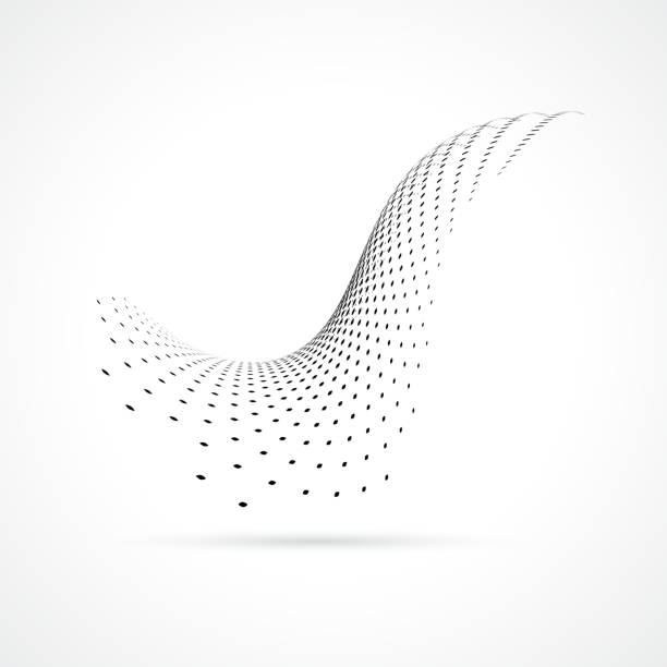vector halftone dots - swirl stock illustrations