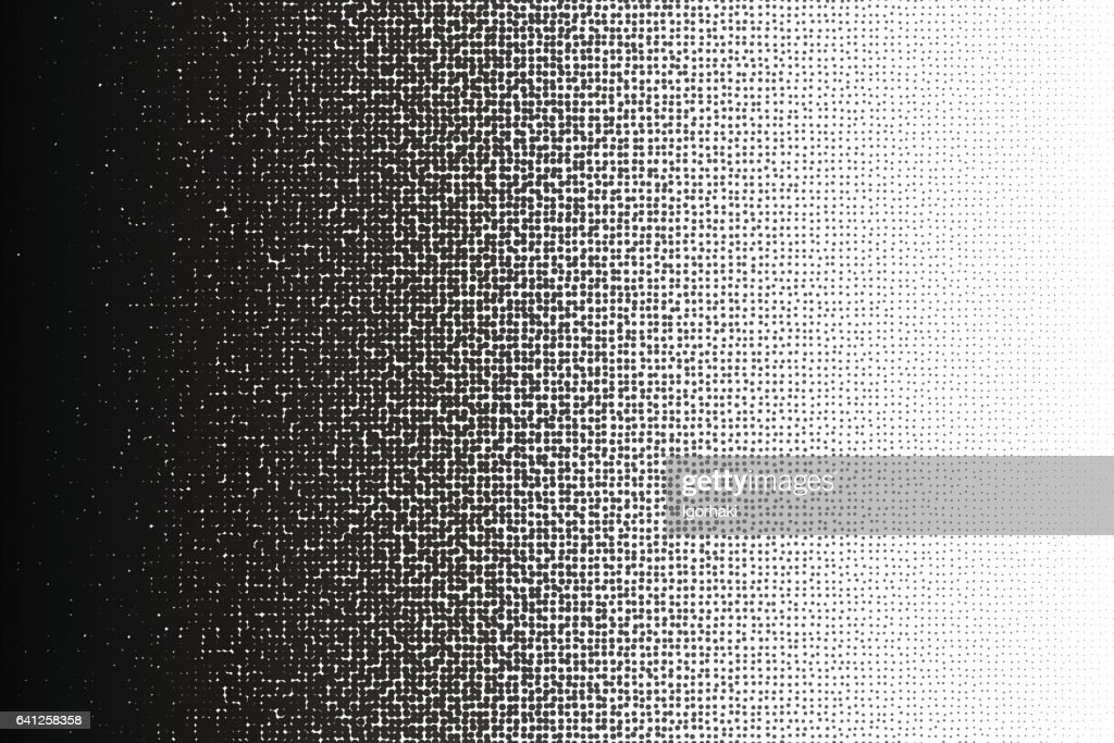 Vector halftone irregular transition pattern made of dots with a4 proportions.