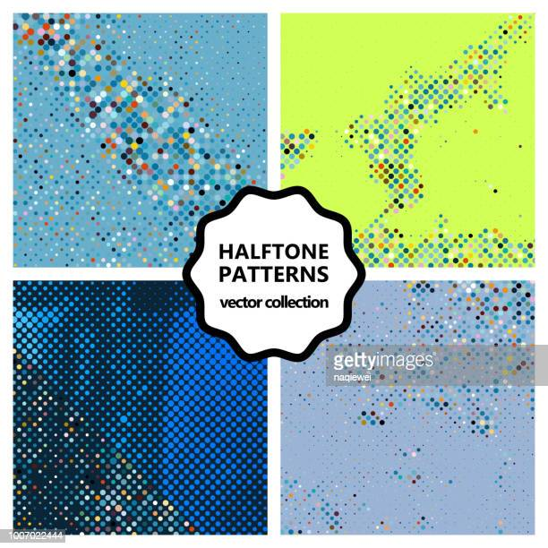 vector halftone pattern backgrounds collection - animated zebra stock illustrations