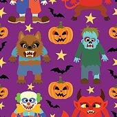 Vector  halloween background seamless
