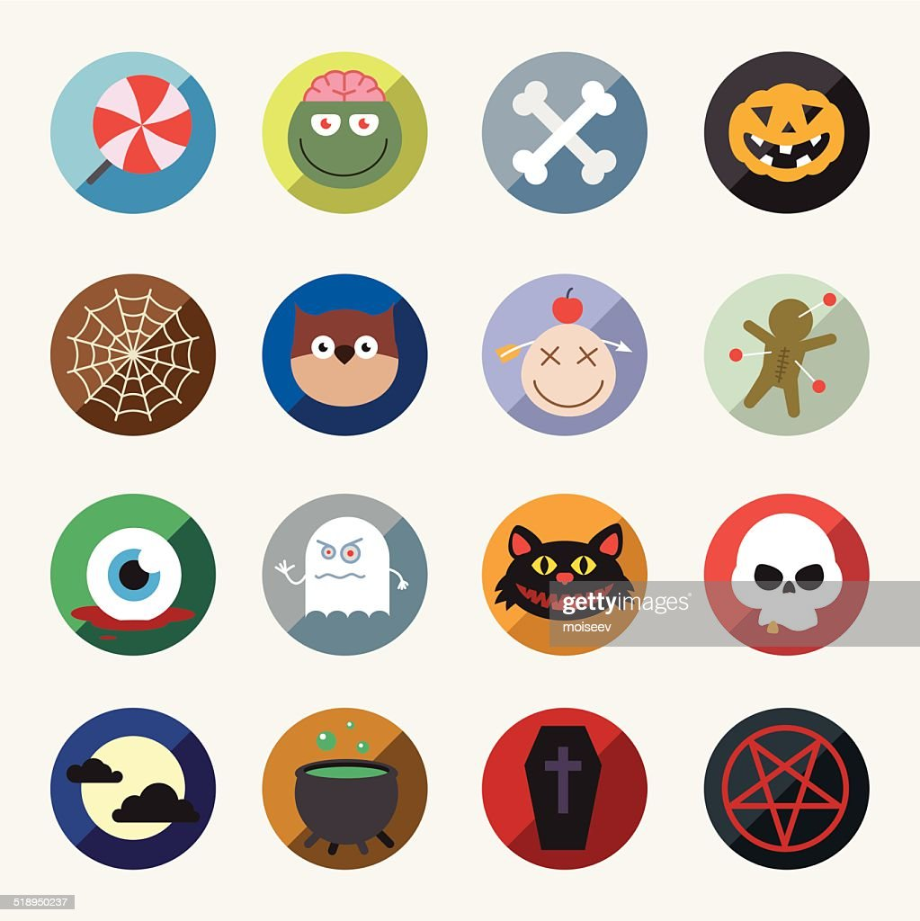 Vector Halloween icons set