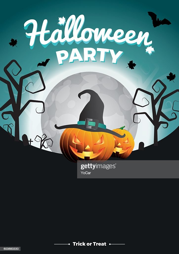 Vector Halloween Party illustration