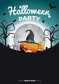 Vector Halloween Party illustration