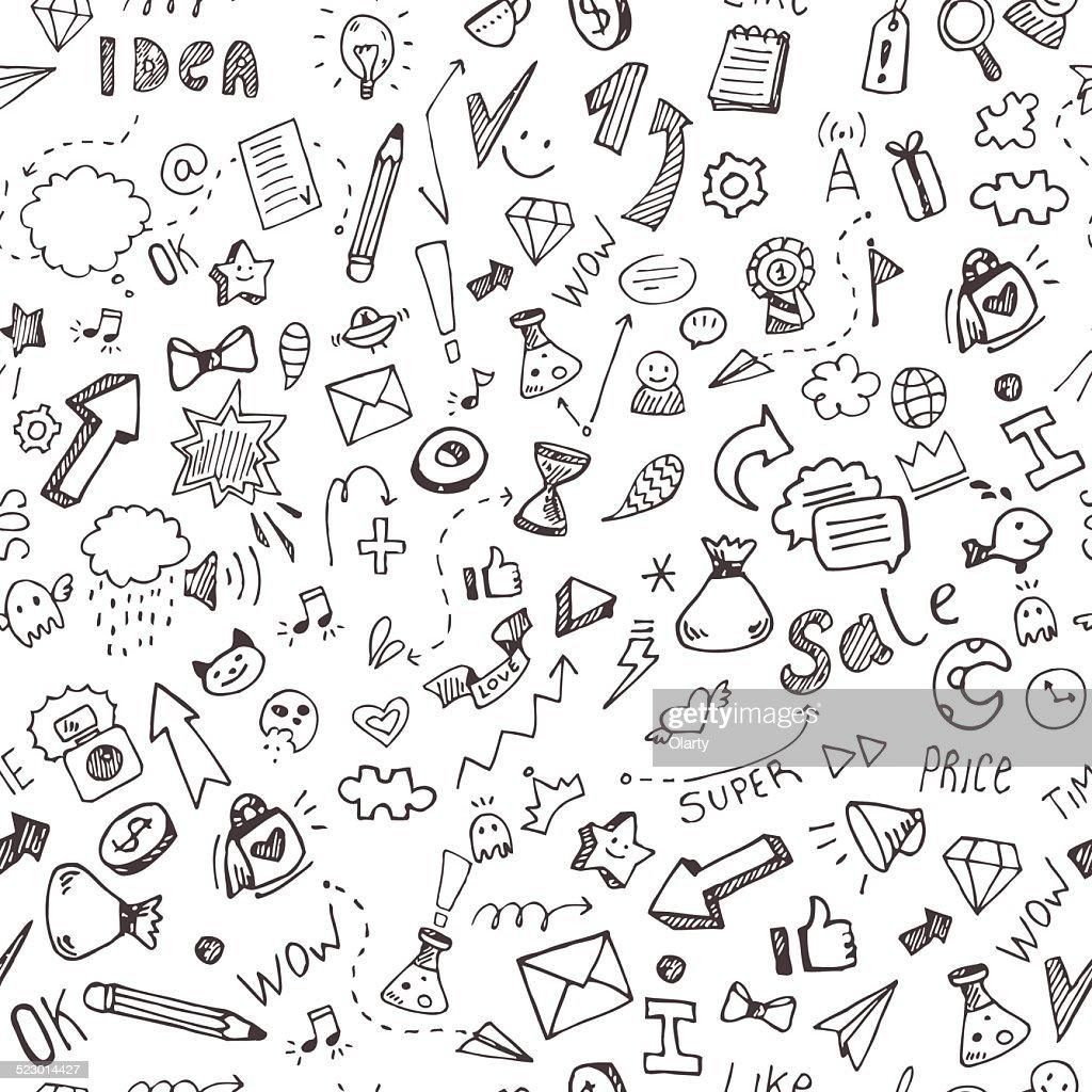 Vektor Hand Zeichnen Doodle Muster Vektorgrafik Getty Images