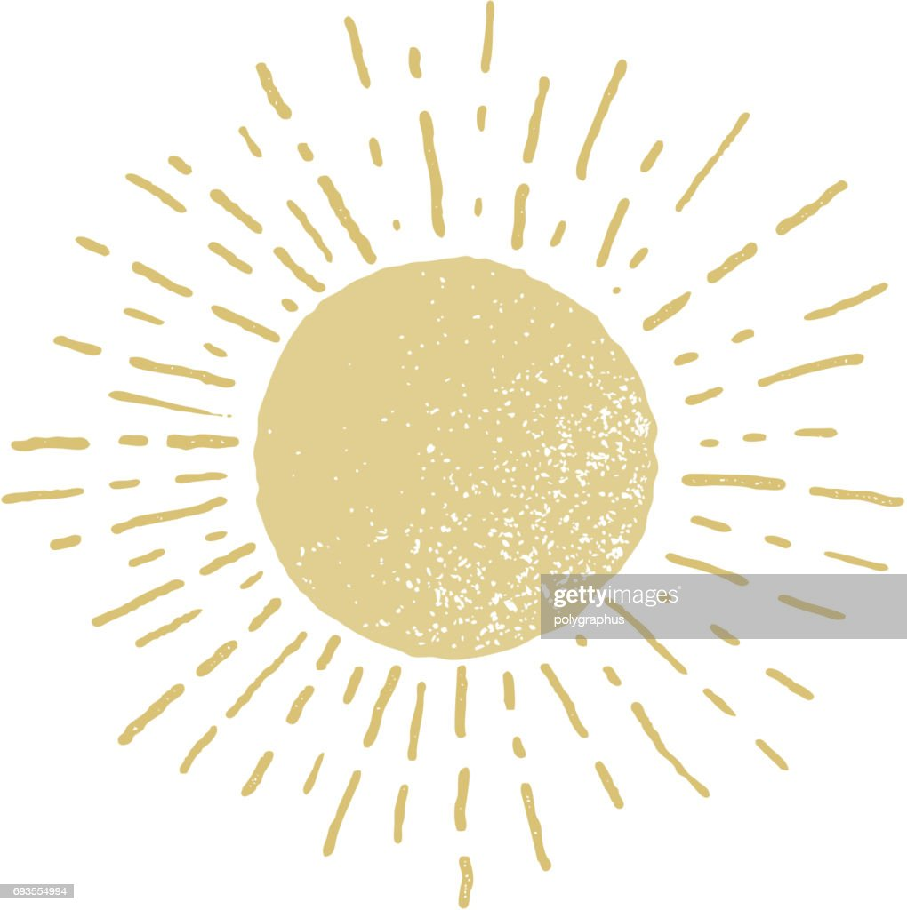 Vector hand drawn sun