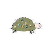 Vector hand drawn turtle