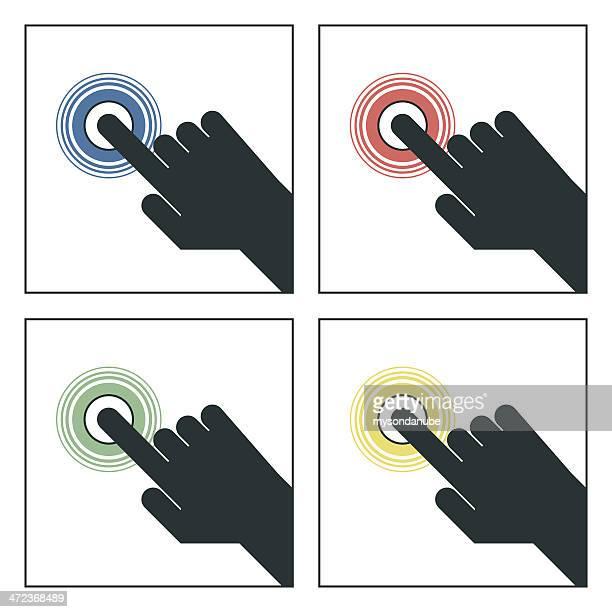 Main appuyant sur le bouton-Illustration