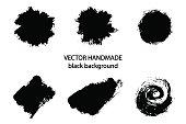Vector  handmade black strokes