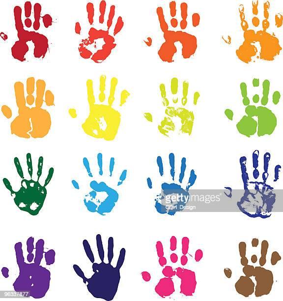 vector hands - human hand stock illustrations