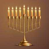 Vector hanukkah jewish holiday menorah