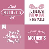 Vector happy mother's day