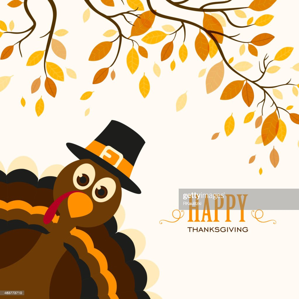 Vector Happy Thanksgiving Celebration Design