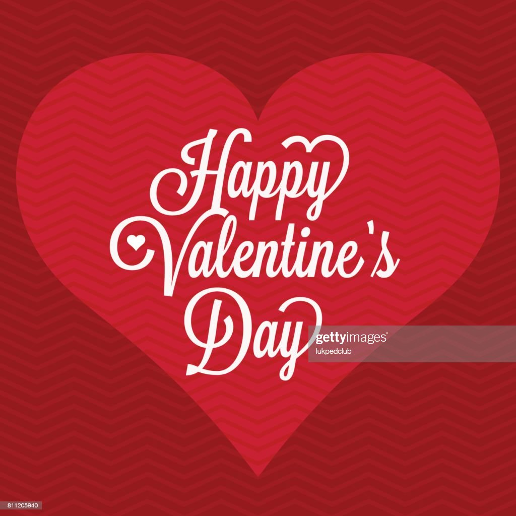 Vector happy valentine's day