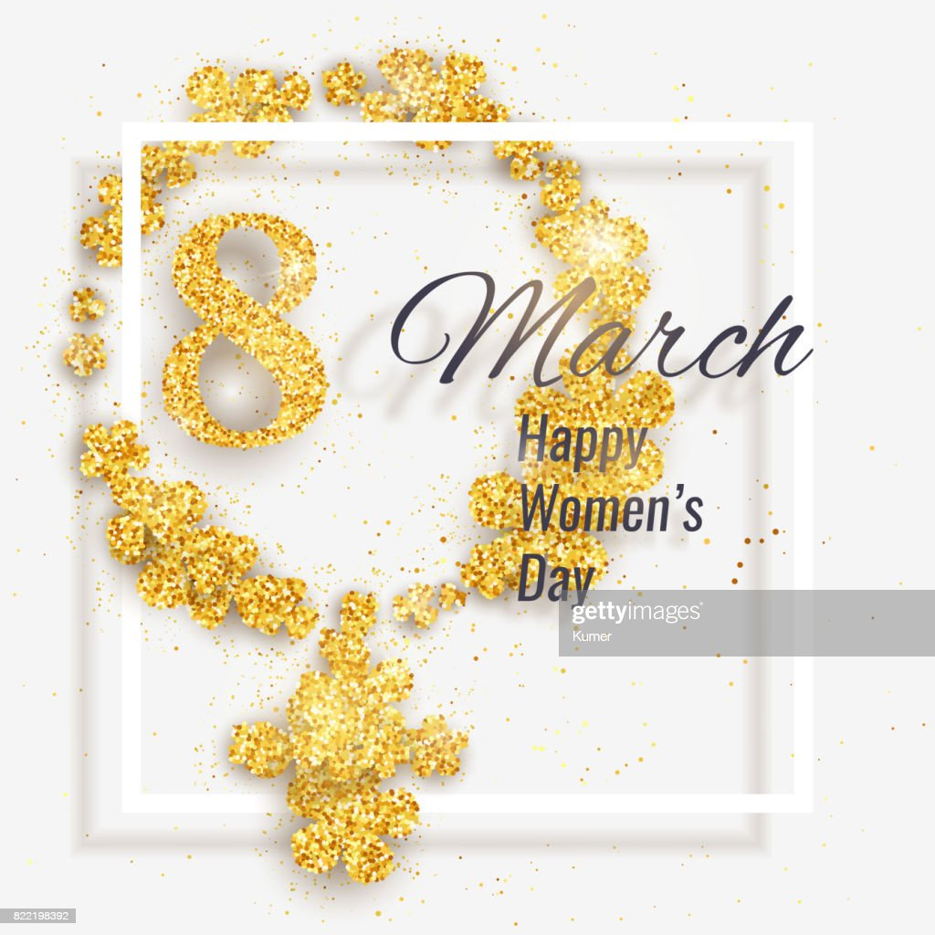 Vector Happy Womens Day Greeting Card Vector Art Getty Images