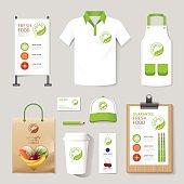 Vector health, beauty shop set flyer, menu, package, t-shirt