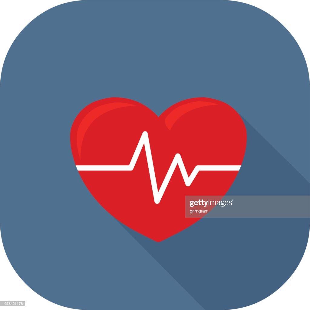 Vector Healthy Heart Icon.