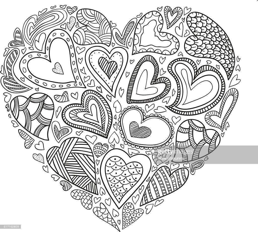 Vector heart simbol.