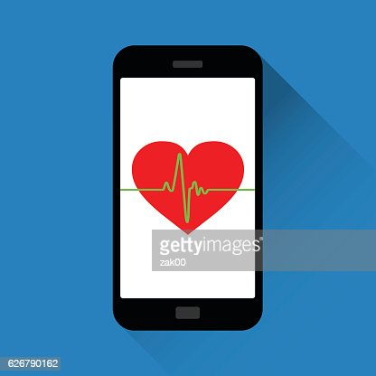 Vector Heart Symbol And Heartbeatfitness App Vector Art Getty Images