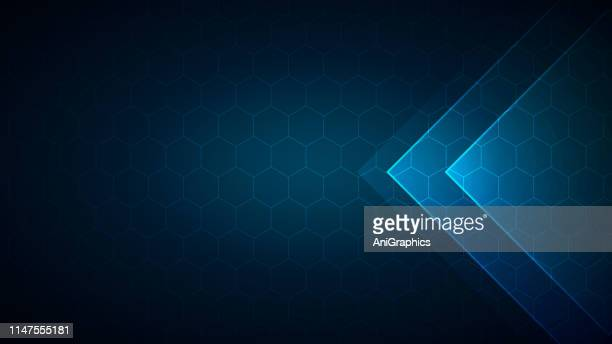 vector hexagonal background - chemistry stock illustrations
