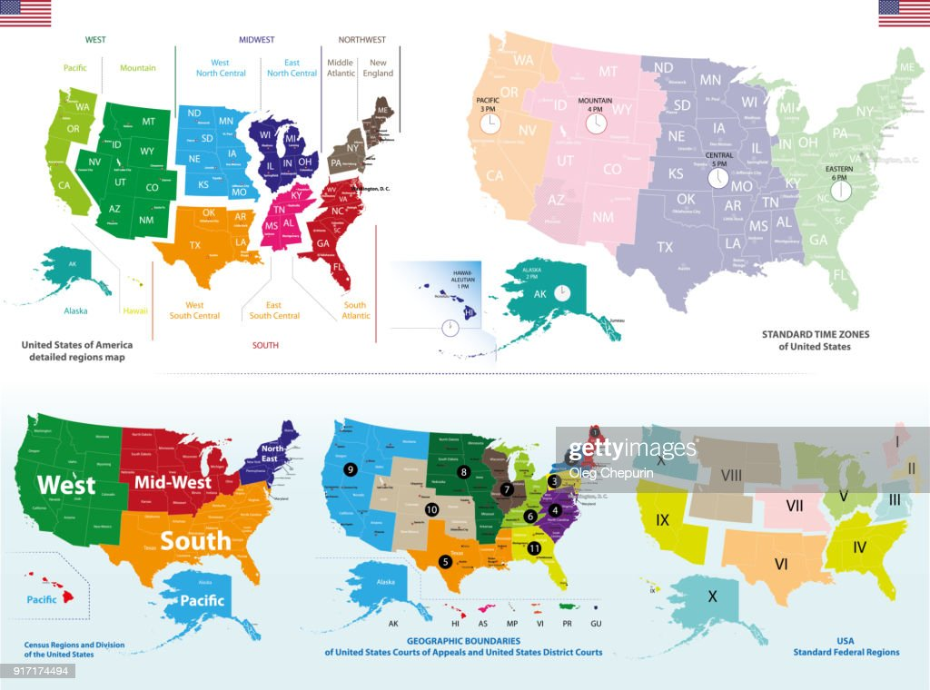 vector high detailed map of United States