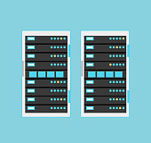 Vector high tech internet data center server