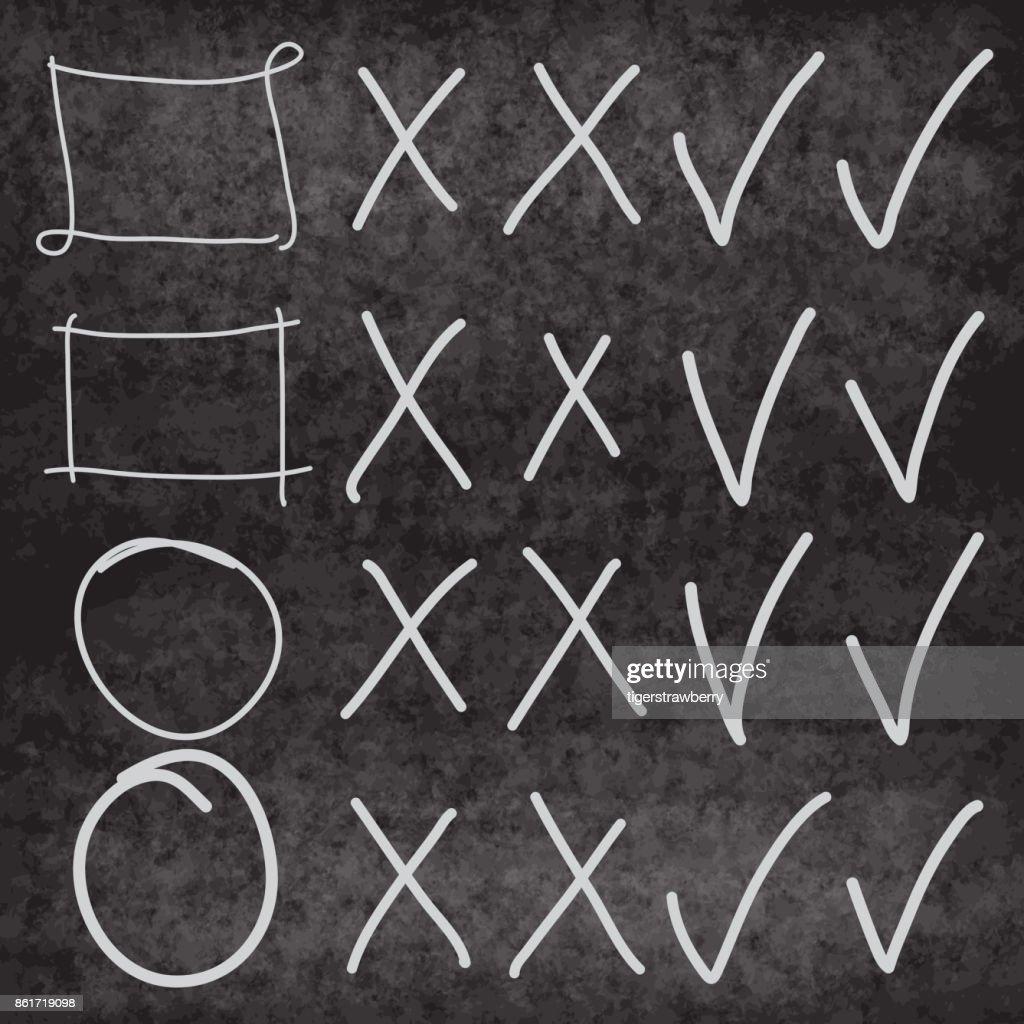 Textmarker Vektorelemente An Tafel Nachahmung Von Hand Gezeichnete ...