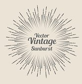 Vector hipster hand drawn retro sunburst rays design element
