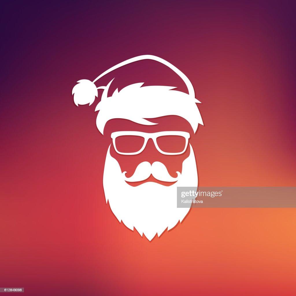 Vector Hipster Santa Claus
