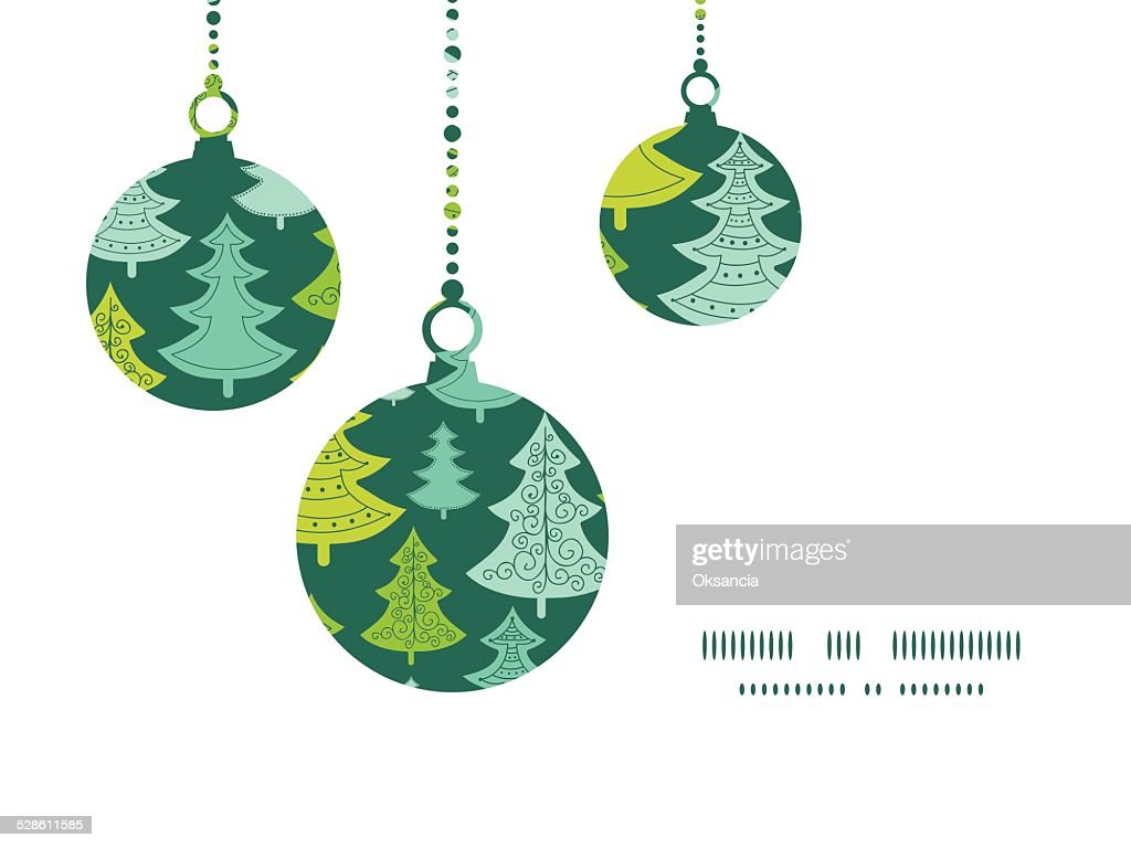 Vector Holiday Christmas Trees Christmas Ornaments Silhouettes ...