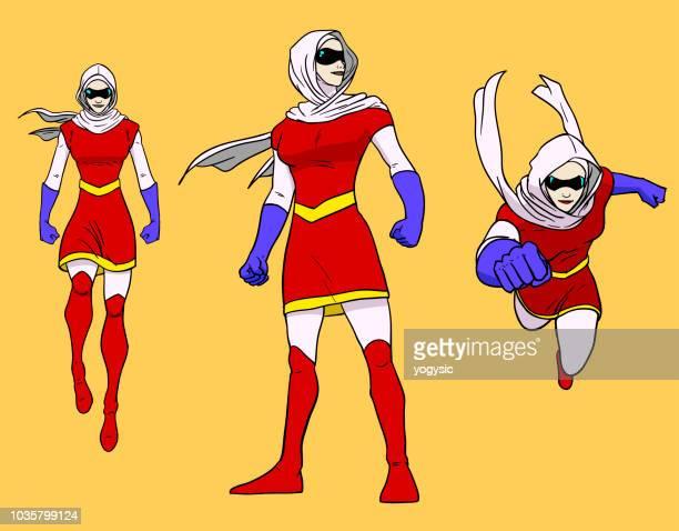 Vector Hooded Muslim Superhero Girl