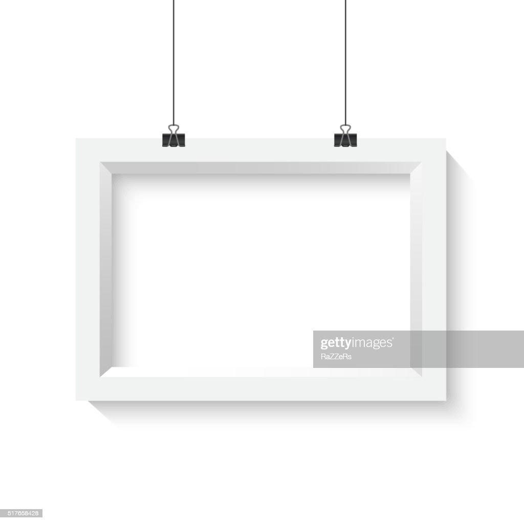 Vector Horisontal Poster Frame Mockup. Realistic Vector EPS10 Pa