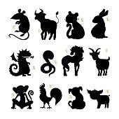 Vector Horoscope animals