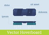 Vector hover board infographic flat illustration