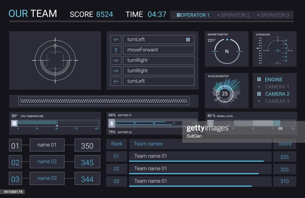 Vector HUD elements for user interface
