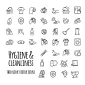 Vector hygiene and cleanliness icons set