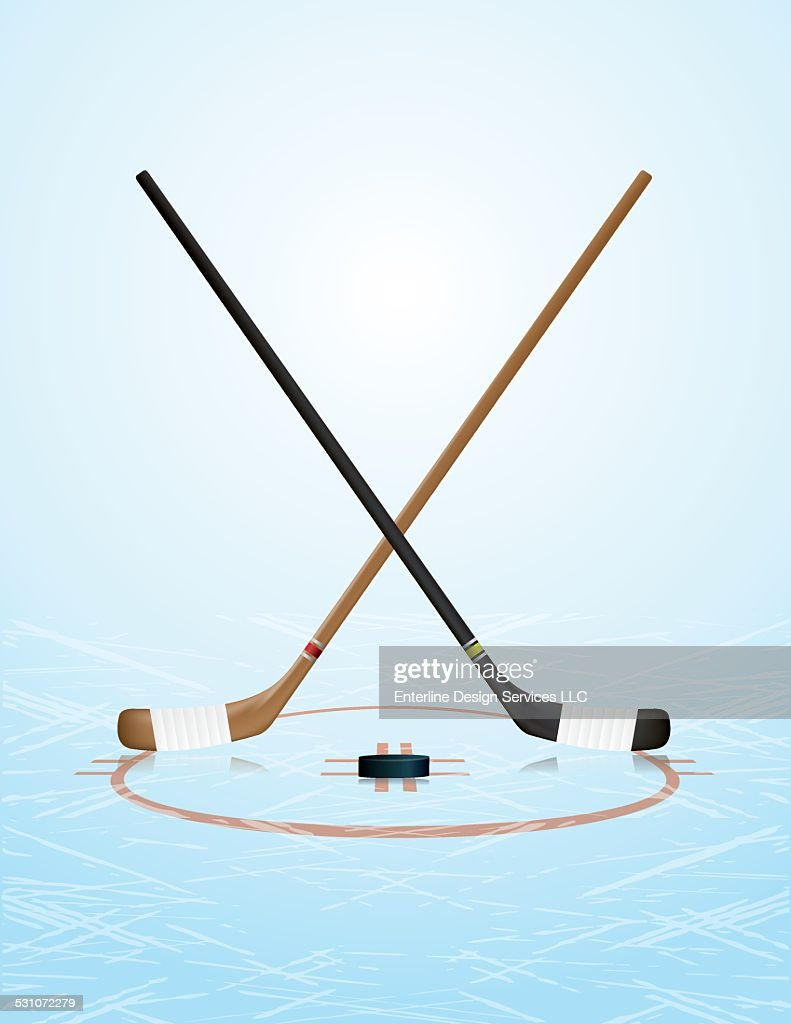Vector Ice Hockey Illustration