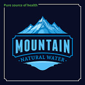 Vector ice mountain water icon