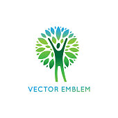Vector icon design template - healthy and natural life