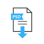 PSD vector icon. Download file