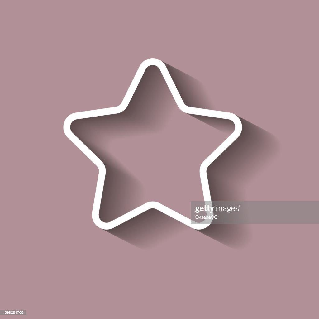 Vektorsymbol Fünfzackige Sterne C Schatten Vektorgrafik | Getty Images