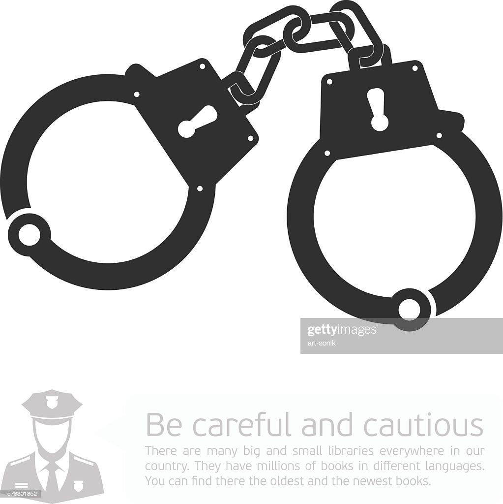 Vector icon handcuffs.