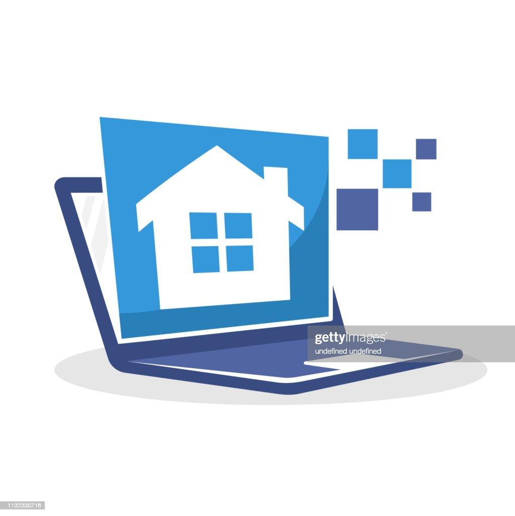 Vector icon illustration with digital media concept about housing property information